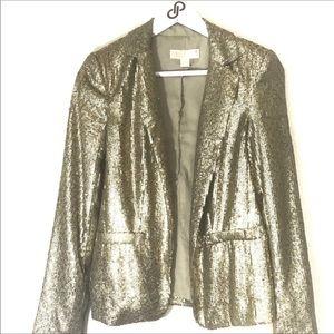 Michael Kors gold sequin blazer 2